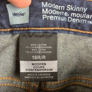 Mossimo Supply Co. Jeans - Mossimo Modern Skinny Jeans Size 18 Dark Wash
